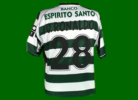 Sporting Lisbon Portugal 2002 2003 Cristiano Ronaldo shirt