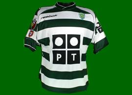 Sporting Clube de Portugal 02 03 camisola do Cristiano Ronaldo de tudo menos de jogo