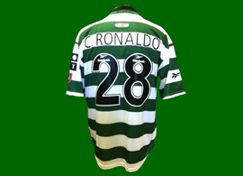 So fake it hurts. Such Cristiano Ronaldo jerseys were never produced by Sporting Lisbon