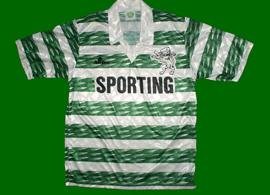 Equipamento do Sporting Saillev 1994 1995
