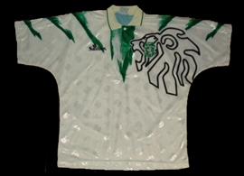 equipamento Sporting Saillev 1998 1999 alternativo branco