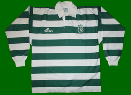 Saillev. Rugby top, one of the most beautiful modern Sporting Lisbon shirts we have ever seen
