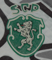 Second half of the 1990s. Goalkeeper shirt of the Old Glories team of Sporting Lisbon. Made by Saillev