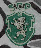 Camisola de guarda-redes da equipa de velhas glórias do Sporting. Feita pela Saillev.