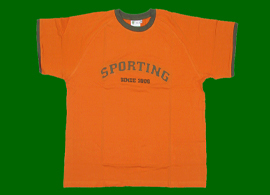 Sporting Portugal TBZ t-shirt from about 2007, orange