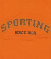 t-shirt do Sporting 1906 ca. 2007, da TBZ, cor de laranja