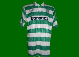 Sporting 1990 1991 Oceano camisa de jogo UEFA Inter Milan