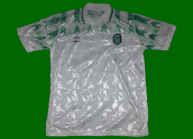 equipamentos do Sporting alternativos 1990/91 Umbro