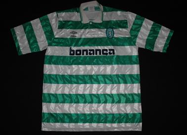 Sporting 1991/92. Camisola de futebol de Yordanov. Autografada pelos jogadores de futebol da época