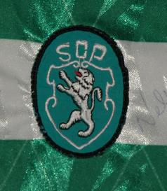 1991/92. Camisola de futebol de Yordanov. Autografada pelo plantel