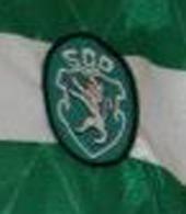 Match worn Sporting Lisbon top, Umbro make, sponsor Bonanca