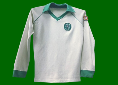 1980/81. Camisola alternativa branca do Manoel