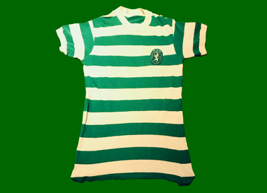 Camisola antiga de jogo dos juniores do Sporting, de Luís Vasques, Sporting 1974