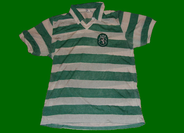 Sporting 1981/1982. National champion, Cup winner. Shirt made in nylon of captain Manuel Fernandes