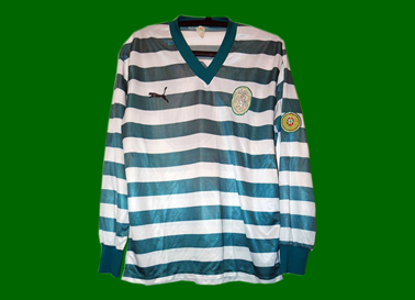 Sporting Lisbon Puma shirt, match worn by Manoel do OOO 1980