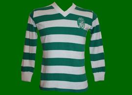 camisolas Sporting usadas em jogo 1975 1976