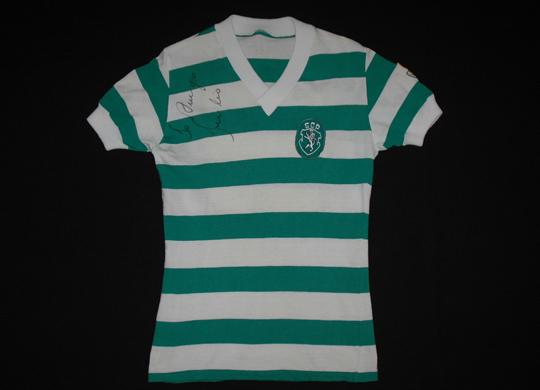 Sporting Lisbon match worn home jersey 1980 1981