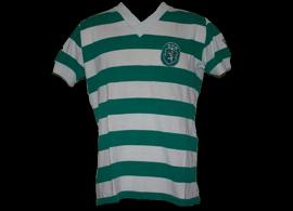 Sporting Manel Fernandes captain match worn jersey 1980 81