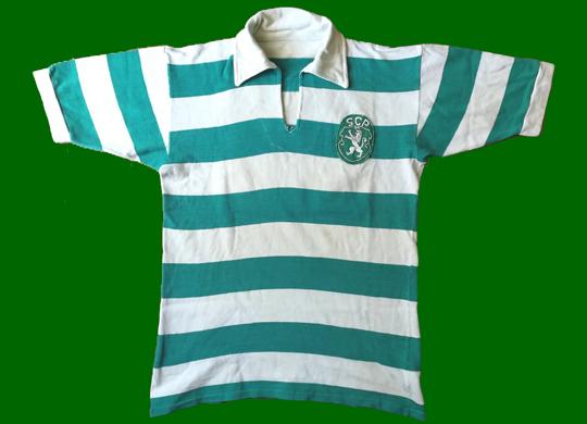 1961/62 a 1964/54. Equipamento do Sporting de futebol