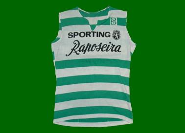 1984, ciclismo. Sporting Lisboa Raposeira (Portugal), camisola de corrida