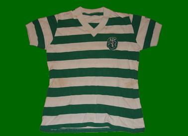 1980/1981. Equipamento usado num jogo do Sporting, provavelmente por Bastos ou Zezinho