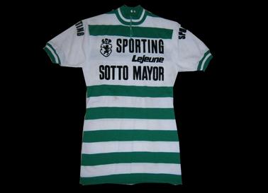 1975. Camisola de ciclismo do Sporting, Tour de France Joaquim Agostinho