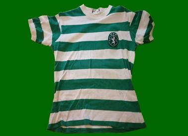 1977/78. Camisola de futebol de Vitor Gomes do Sporting