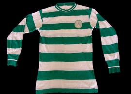 Camisola do Sporting listada usada de 1965/66 a 1971/72 ou 1972/73