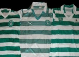 Equipamento de jogo listado da Puma 1981 82 Sporting campeão