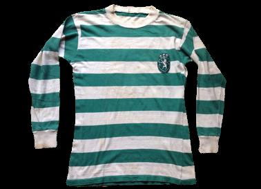 Camisola de jogo de mangas compridas Sporting 1976/77 a 1978/79