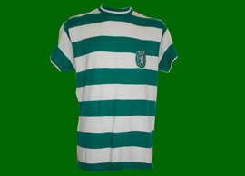 worn in game by defender Bastos 1972 1974 home shirt