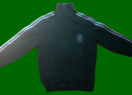 1970s Sporting Lisbon training equipment, with trousers and jacket