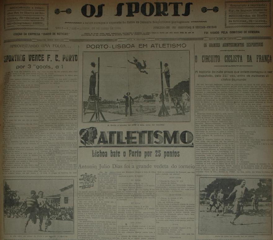 Camisola listadas - foto do jogo contra o porto a 17 de Junho de 1928