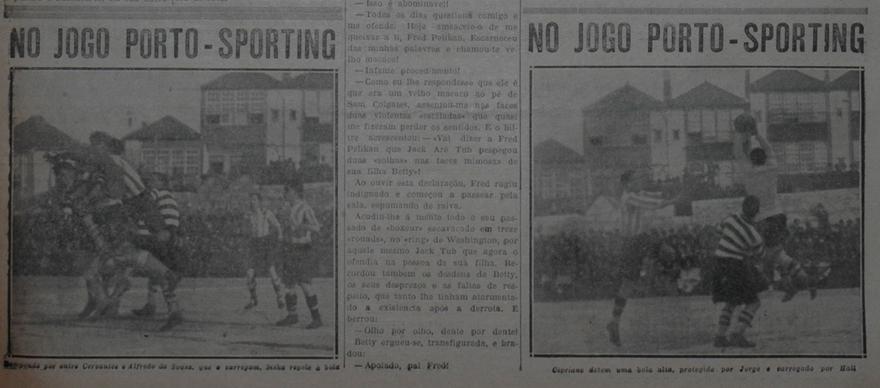 Camisola listadas - foto do jogo contra o porto a 31 de Janeiro de 1928o