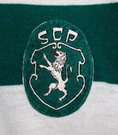 1972/73. Emblema de camisola de jogo do Sporting de mangas compridas