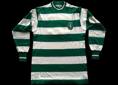 1972/73. Camisola de jogo do Sporting de mangas compridas