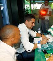 camisola Sporting Stromp assinada por Beto e Vidigal 1996 1997