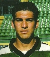 auswärts spielertrikot UEFA Pokal Sporting Lissabon 1998 99 Quiroga