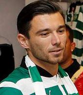 equipamentos de jogo do jogador Danijel Pranjic do Sporting