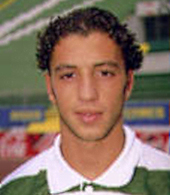 Equipamento alternativo de jogo do Sporting 1997 1998 Simão Sabrosa