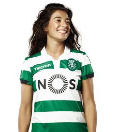 Camisola do Sporting 2018/19 listada para senhora, modelo Rita Fontemanha futebol feminino