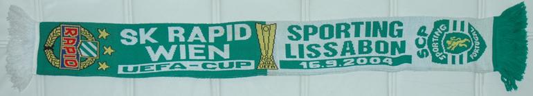 Cachecol do jogo da pre-eliminatória da taça UEFA Rapid Vienna Sporting 2004/05