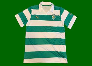 Camisola do Sporting listada falsa proveniente do Brasil