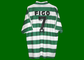This has never been close to Figo Sporting 1994 1995, not a matchworn jersey