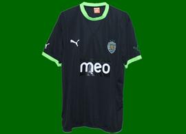 equipamento contrafeito alternativ preto muito curioso Sporting 2011/12