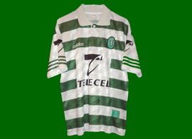 Replica home shirt, personalized with Hadji name and player number. Not match worn Sporting Lisbon