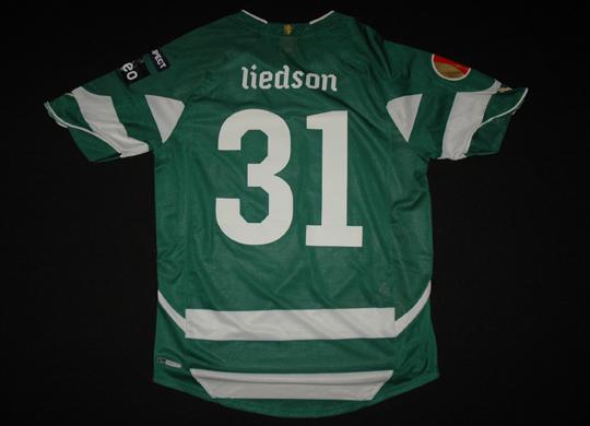 2010/11. Camisola modelo Europa do Liedson, contrafeita