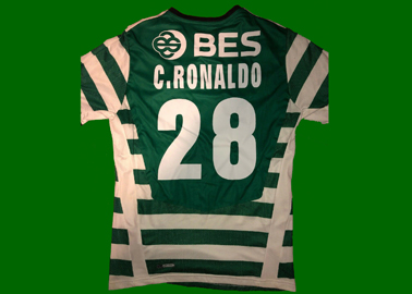 2008/09. Fake shirt Cristiano Ronaldo lettering