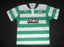 2012/2013. Counterfeit Sporting Lisbon soccer jersey Made in China