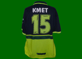 Sporting Lisbon Away shirt, personalised with Kmet player name and number. Sold on ebay as match worn